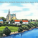 ST. FRANCIS XAVIER CHURCH Linen Postcard