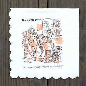 DENNIS THE MENANCE Paper Comic Napkin 1951