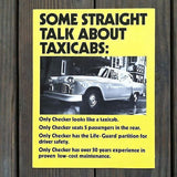 Original TAXICABS Showroom Brochure Folder 1981