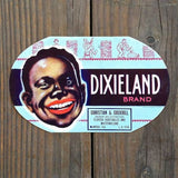 DIXIELAND WATERMELON Crate Box Label 1930s