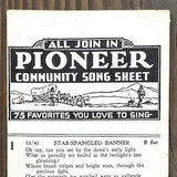 PIONEER SING ALONG SHEET Music 1920s