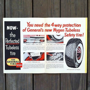 GENERAL TIRE Car Advertising Brochures 1954