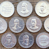 SHELL OIL PRESIDENT & STATE Coins 1960s