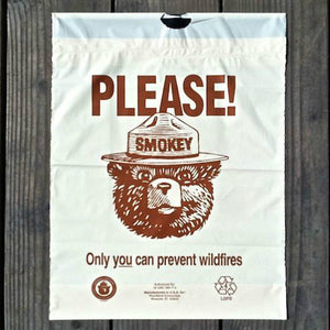 SMOKEY THE BEAR Plastic Litter Bag 1970s