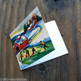 CHRISTMAS SNOW SCENE Gift Card 1940s