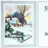 SUN RISE DAIRY FARM Winter Ink Blotter 1920s