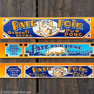 PIG PATE FOIE French Can Label Set 1920s