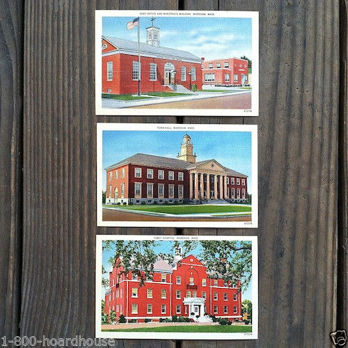 WARHAM MASSACHUSETTS Linen Postcards 1940s