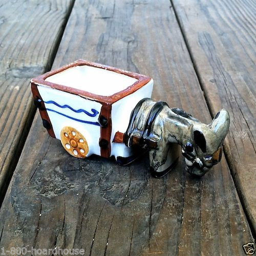 Occupied Japan DONKEY MULE WAGON Flower Planter 1930s
