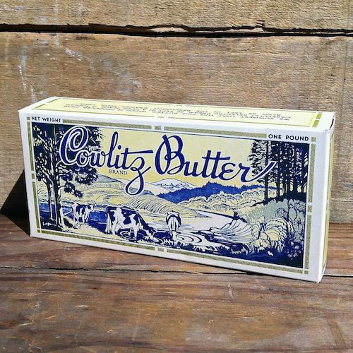 COWLITZ BUTTER Dairy Farm Box 1940s