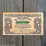 WRIGLEY'S SPEARMINT GUM Redemption Coupon 1920s