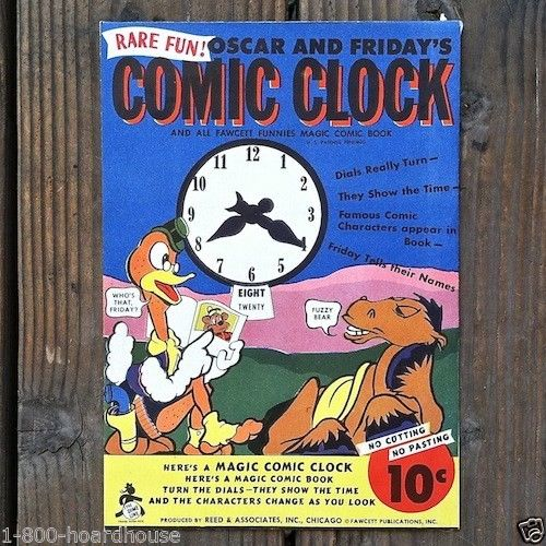 COMIC CLOCK Magic Comic Book 1940s