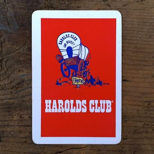 HAROLDS CLUB NEVADA CASINO Playing Card