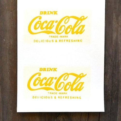COCA COLA Shot Glass Decal Sticker 1960s