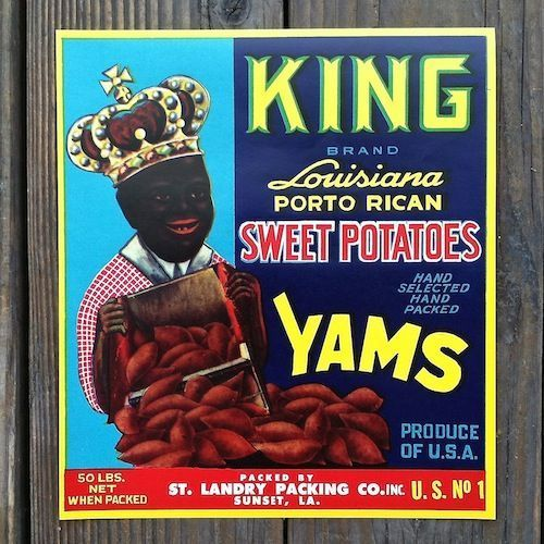 KING SWEET POTATOES YAMS Citrus Crate Box Labels 1940s