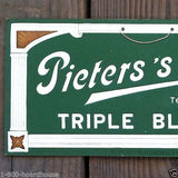 PIETER'S BIER Triple Blonde Bar Cardboard Sign 1920s