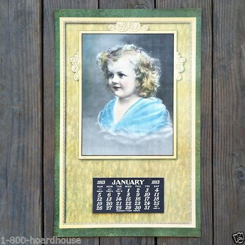 BABY MINE Store Promotional Lithograph Calendar 1913