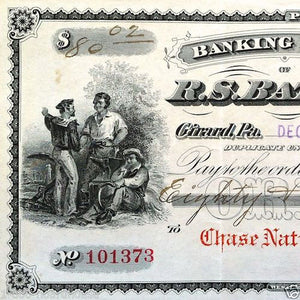 R.S. BATTLES BANK NOTE Check 1909