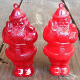 SANTA CLAUS REFILLABLE Candy Xmas Ornaments 1950s
