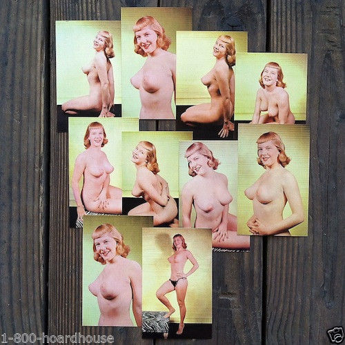 Ava Ambrosia 1950s BURLESQUE PINUP Card Collection