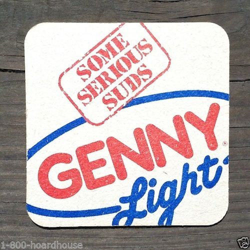 GENESEE GENNY BEER Light Drink Coaster 1960s