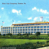 DIXIE CUP Corporation Linen Postcard 1930s