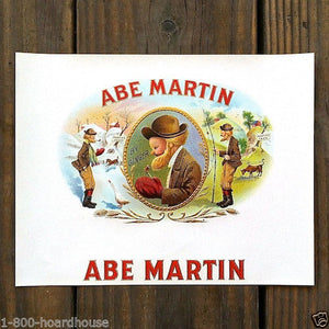 ABE MARTIN Gold Miner Cigar Box Label 1910s