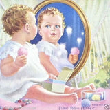 CHILD IN MIRROR Mable Rollins Calendar 1956