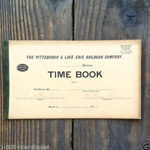 10 pittsburgh railroad time employee record book 1900s
