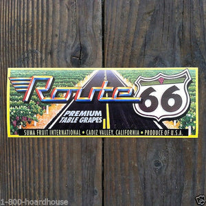 ROUTE 66 Grape Box Fruit Crate Labels 1970s