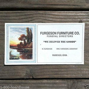 FERGESON FURNITURE Fall Funeral Ink Blotter 1920s