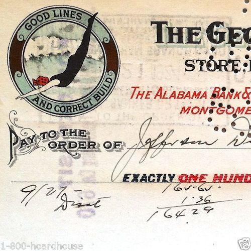 GEORGIA SHOW CASE CO 1940s Bank Check
