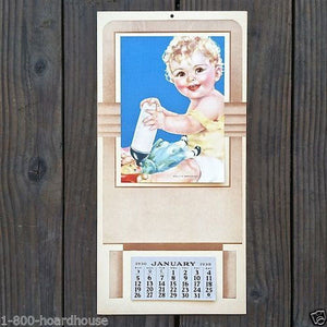 DOLLY'S BREAKFAST Baby Promotional Calendar 1930s