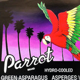 PARROT GREEN ASPARAGUS Vegetable Crate Box Label 1970s