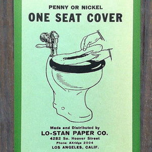 LO-STAN TOILET PAPER Seat Changer Label 1928
