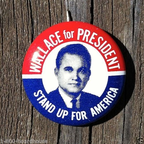 GEORGE WALLACE Stand Up America Campaign Pin 1960s