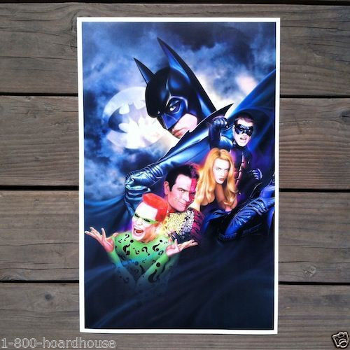 BATMAN FOREVER Movie Theater Poster 1995