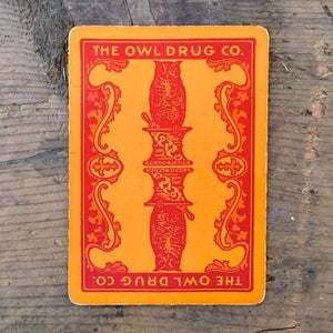 OWL DRUGSTORE Playing Card 1910s