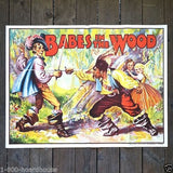 BABES IN THE WOOD Vaudeville Theater Show Poster 1930s