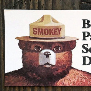 SMOKEY THE BEAR Bookmark 1975