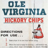 OLE VIRGINIA HICKORY CHIPS Charcoal Bag 1940s