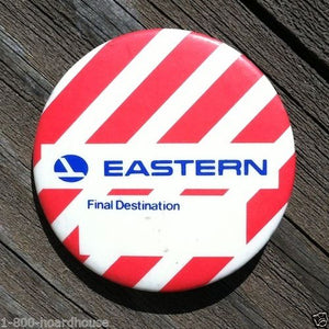 EASTERN AIRLINES Final Destination Kids Pinback 1960s
