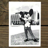 MICKEY MOUSE WELCOME CARD Disney Resort Hotel 1977