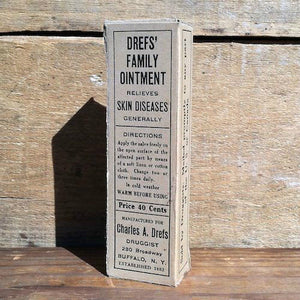 DREF'S FAMILY OINTMENT Medicine Box 1920s