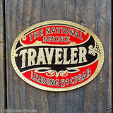 TRAVELER SMOKE Cigar Box Labels 1910s