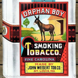 ORPHAN BOY SMOKING TOBACCO Store Poster 1930s