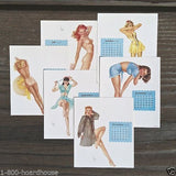 12 VARGA PINUP GIRLS Calendar Sheets 1948