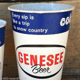 GENESEE BEER Paper Sample Cups 1950s
