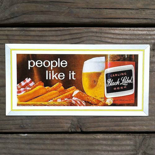 CARLING BLACK LABEL BEER Ink Advertising Blotter 1960s