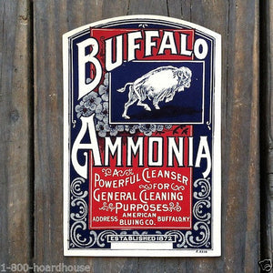 BUFFALO AMMONIA Bottle Label 1910s